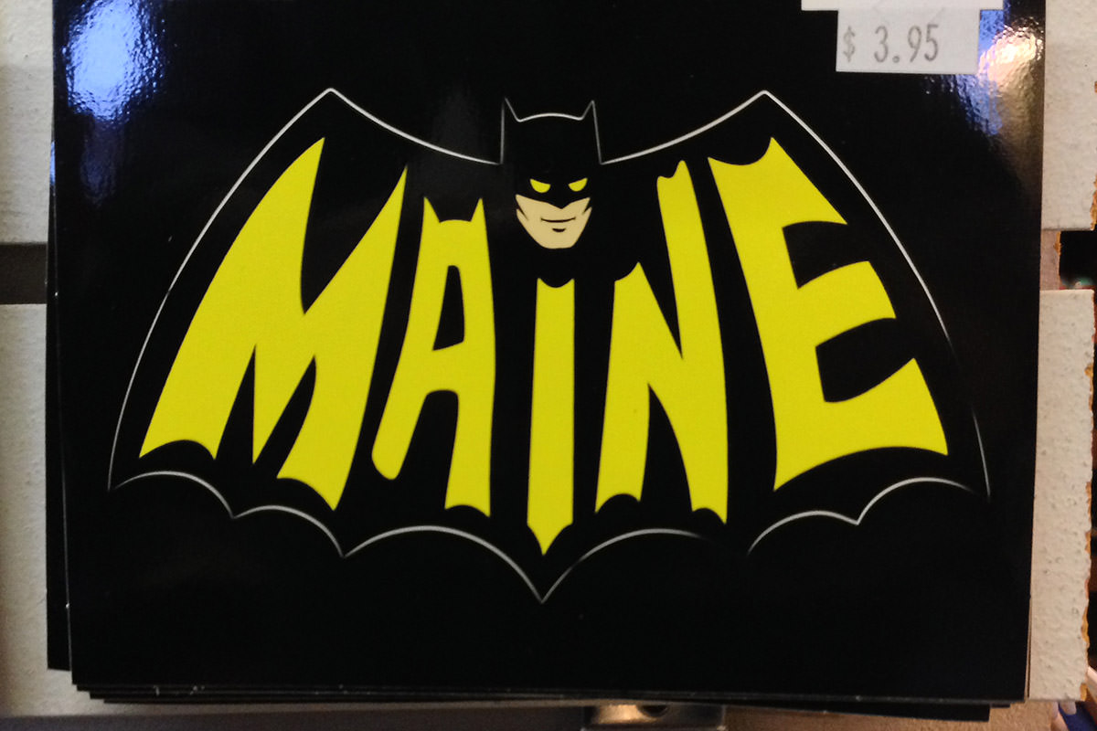 Batman Symbol with MAINE inside!