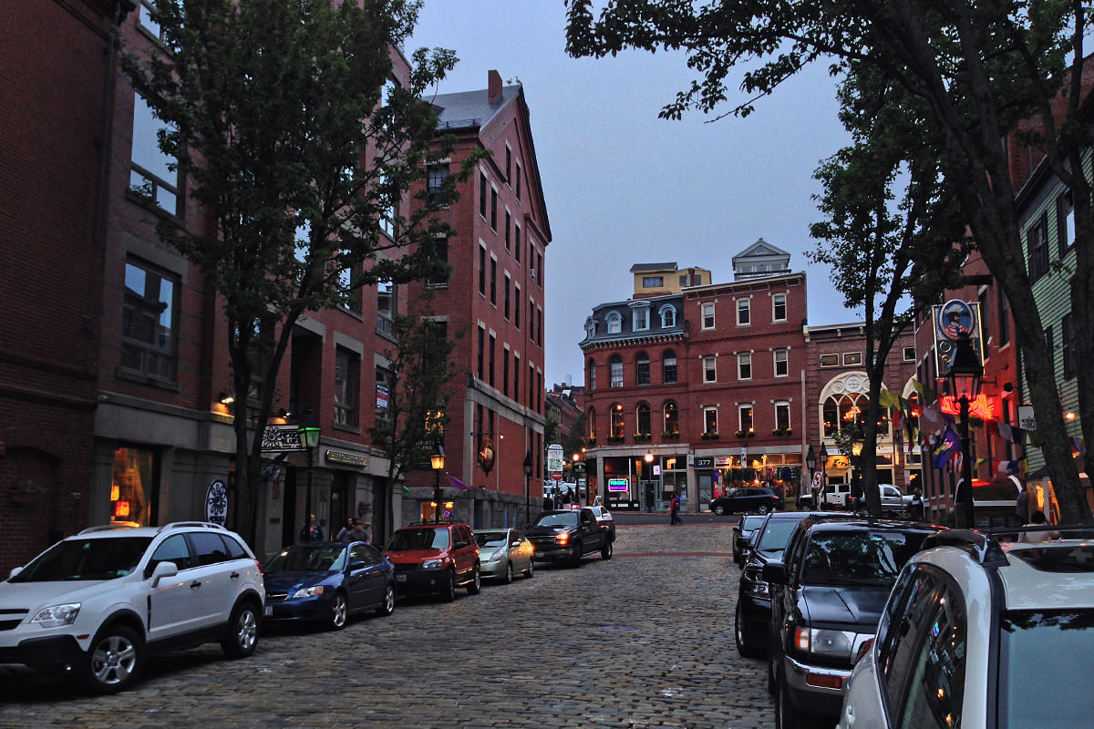 Downtown Old Town Portland, Maine