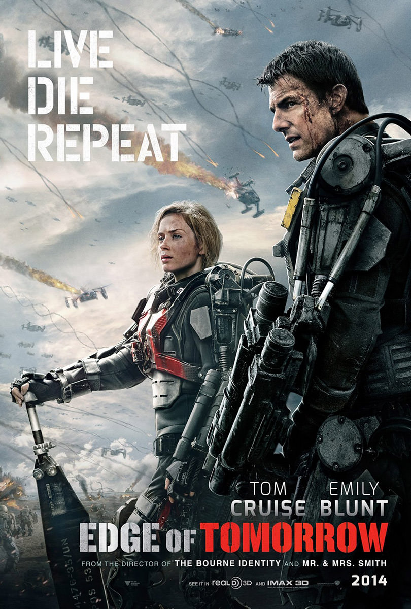 Edge of Tomorrow Movie Poster: Live. Die. Repeat.