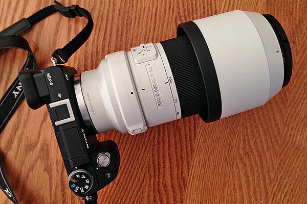 Sony FE 70-200 on a Sony NEX-6 Body
