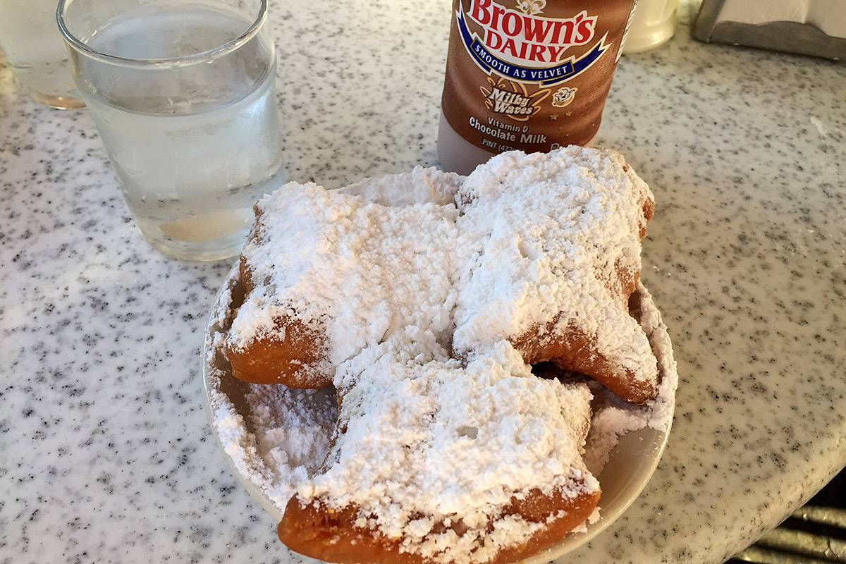 Beignets at Cafe Du Monde.