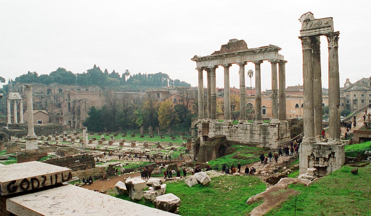 The Roman Forum Ruins