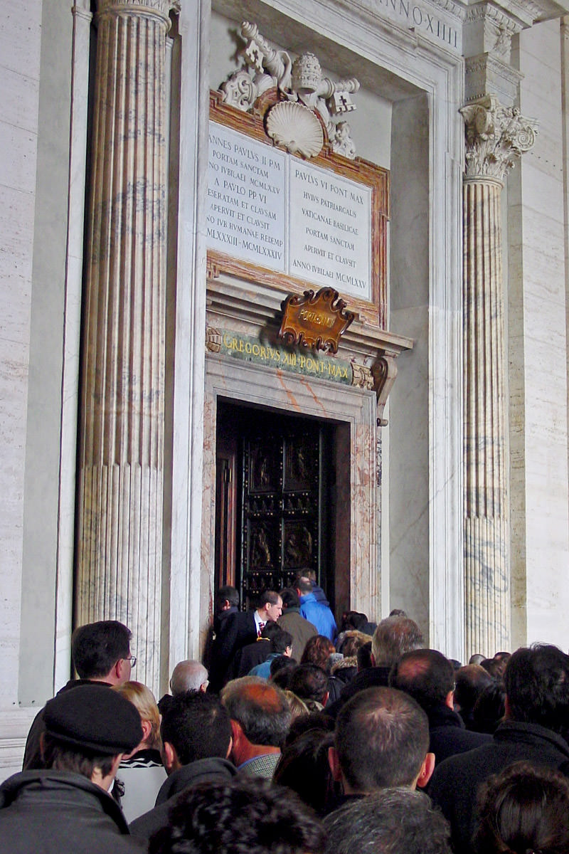 St. Peter's Basilica in Vatican City in Rome Brass Door