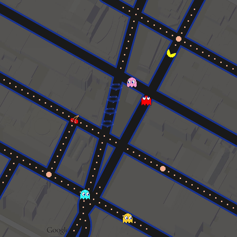 Pac Man Google Maps!