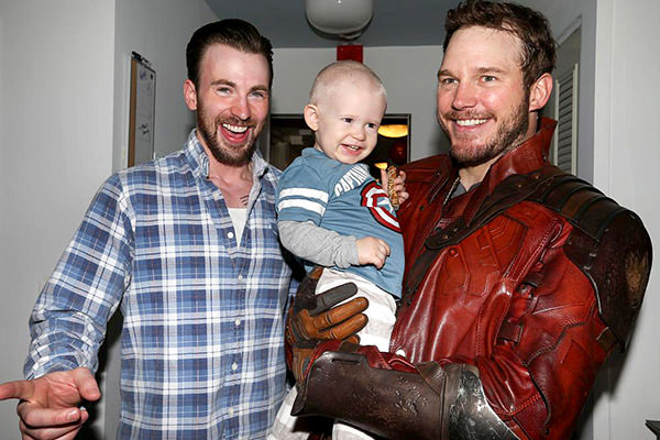 Captain America and Star Lord visit Seattle Children's Hospital