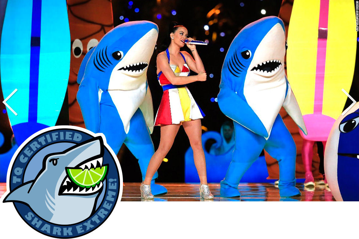 LEFT SHARK IS SHARK EXTREME