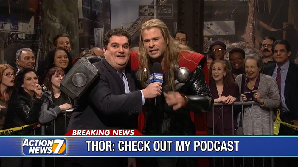 Thor Celebrates Victory Over Ultron on SNL