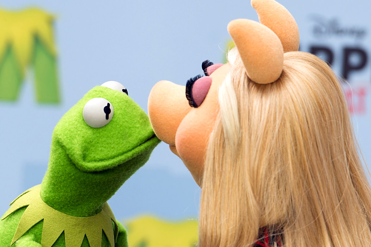 Kermit the Frog and Miss Piggy in better days
