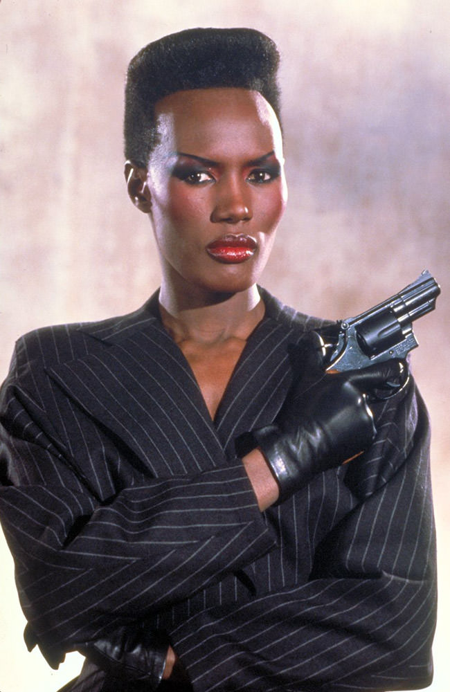 Grace Jones as James Bond's May day