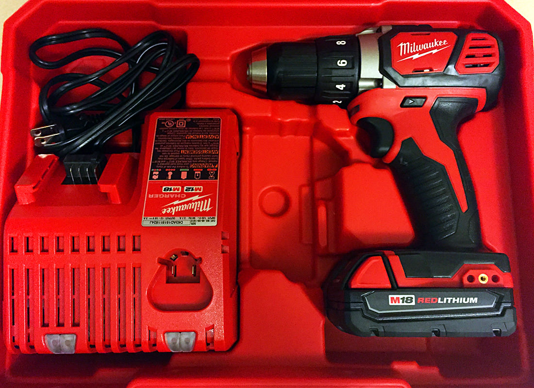 My new Milwaukee red drill!