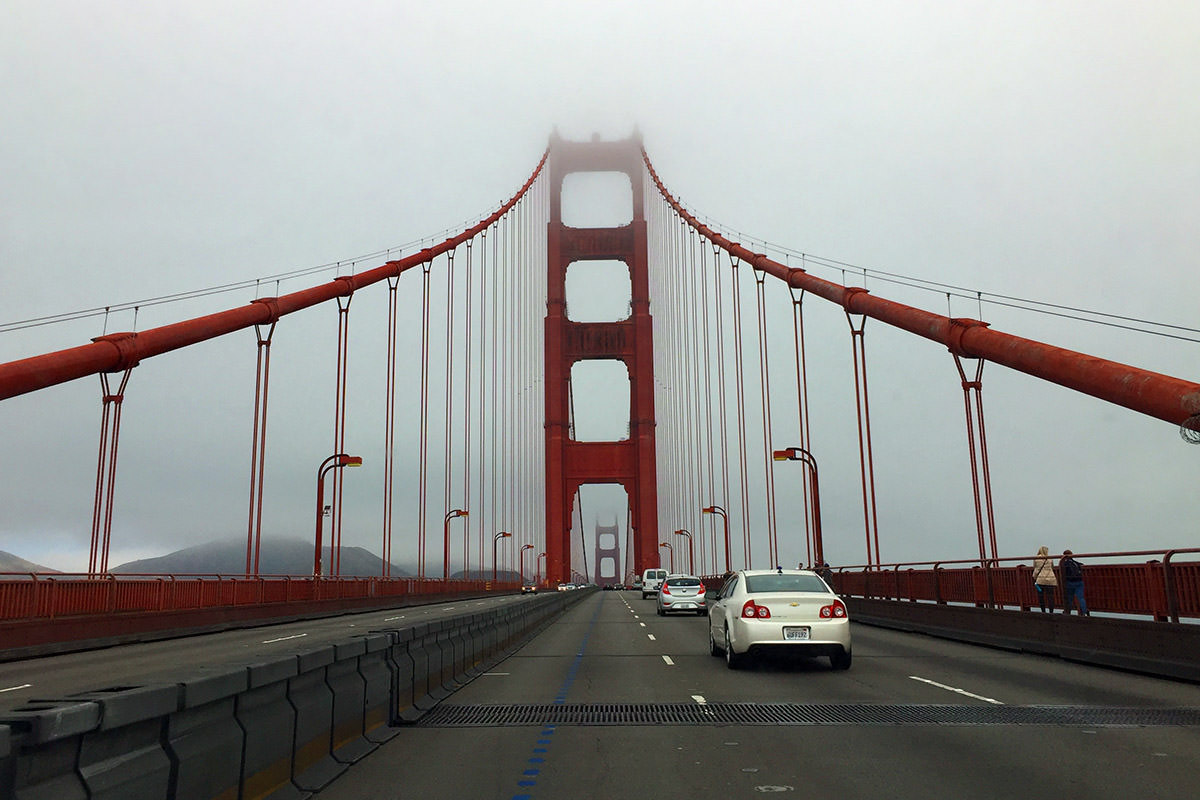 The Golden Gate in the Fog