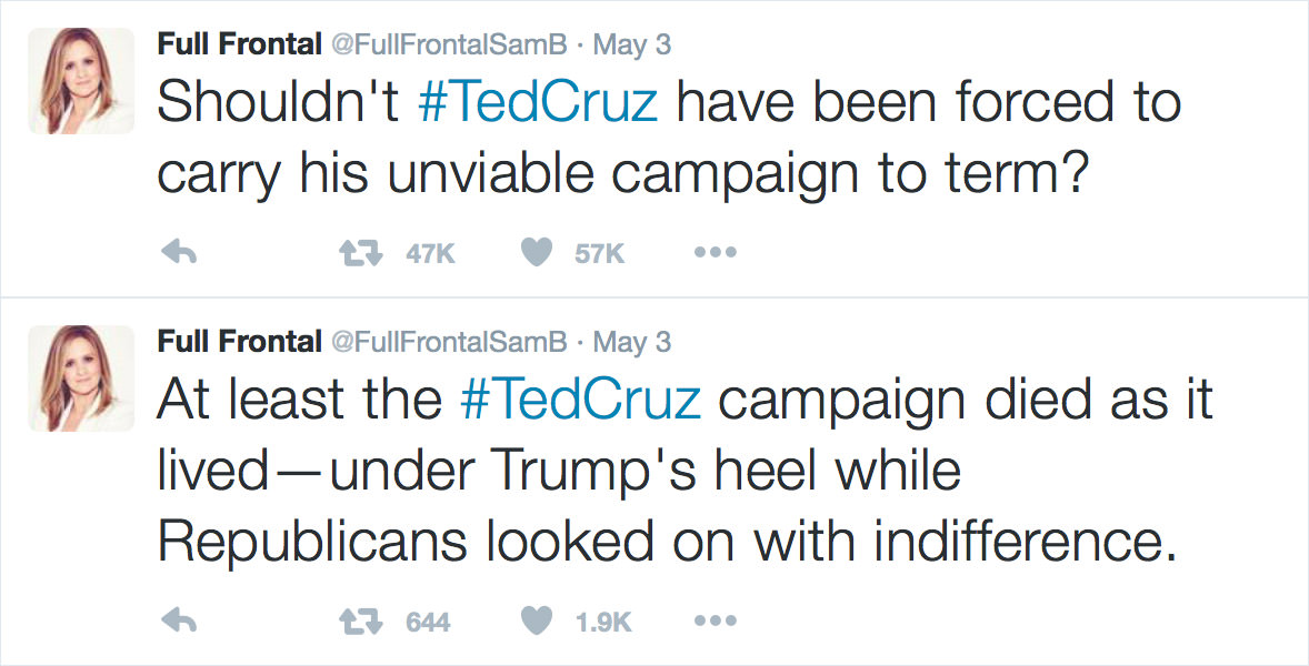 Samantha Bee on Ted Cruz