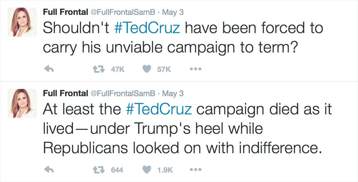 Samantha Bee on Ted Cruz