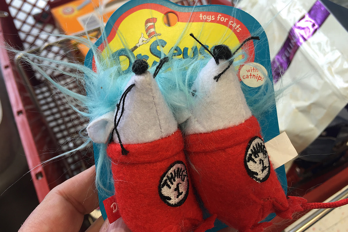 Dr. Suess cat toys!