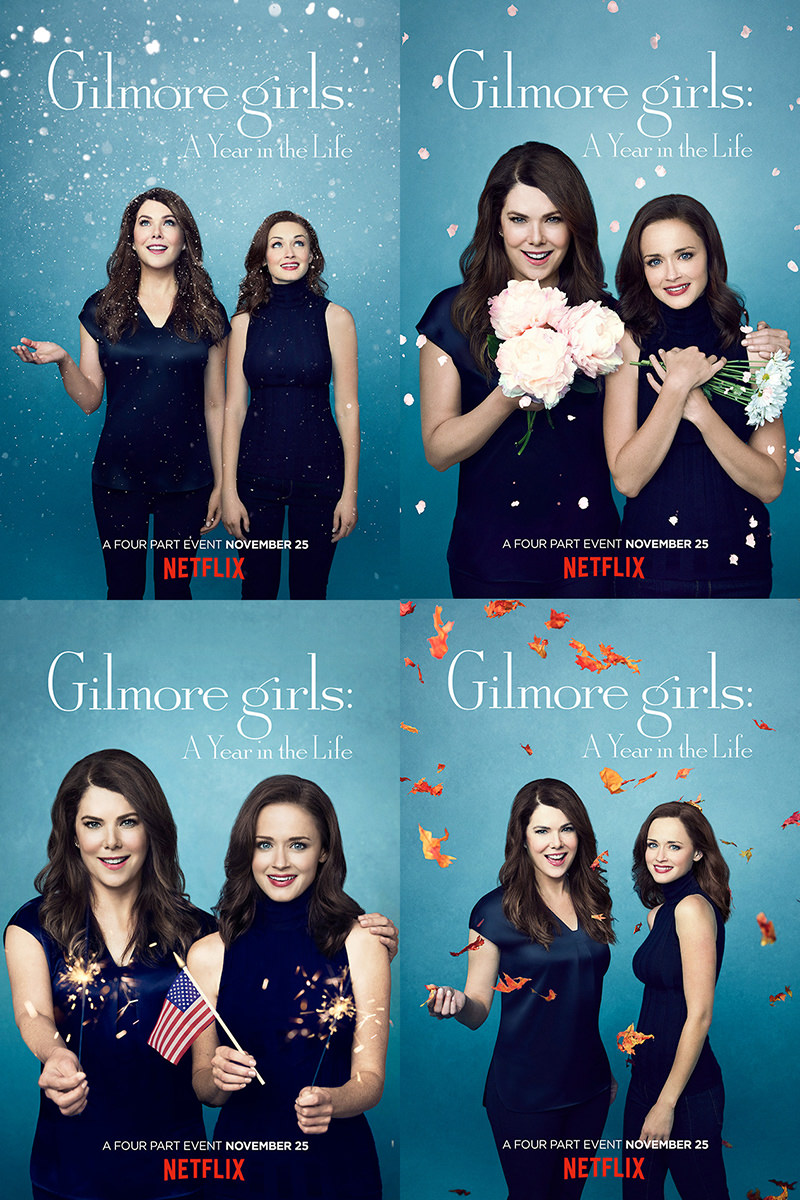 Gilmore Girls A Year in the Life Posters.
