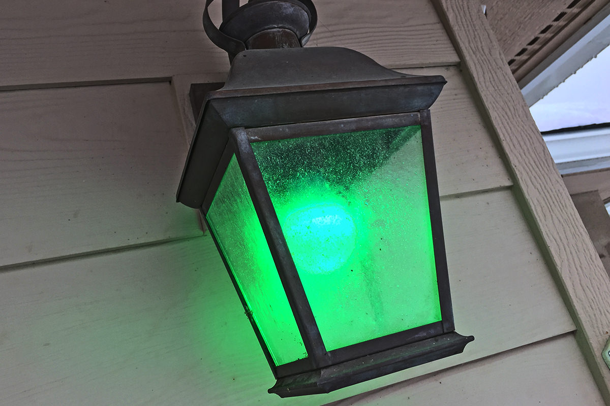 Green Garage Light