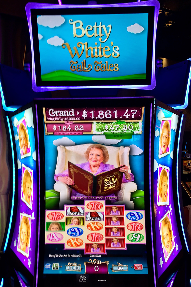 Betty White Slots at the Aria Hotel in Vegas