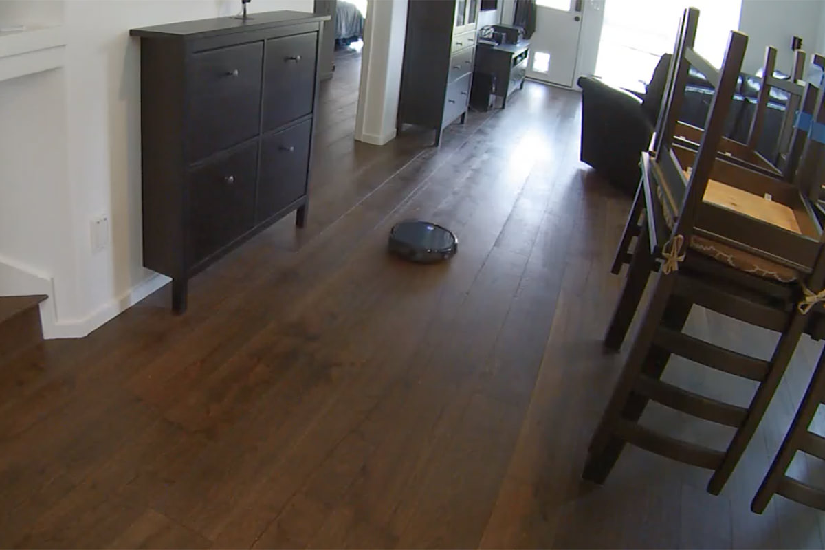 Carl the RoboVac at Work!