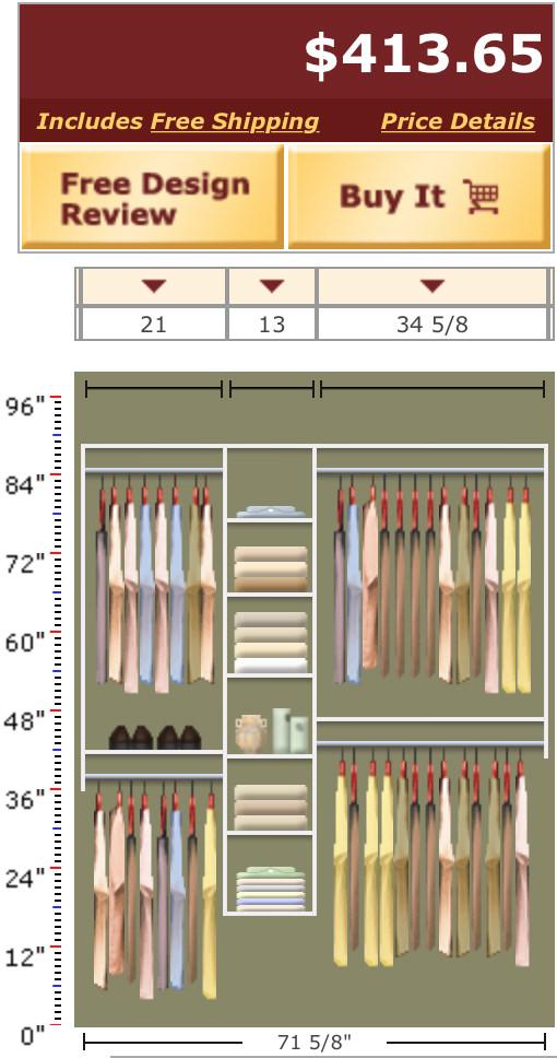 Expensive Closet Organizer!