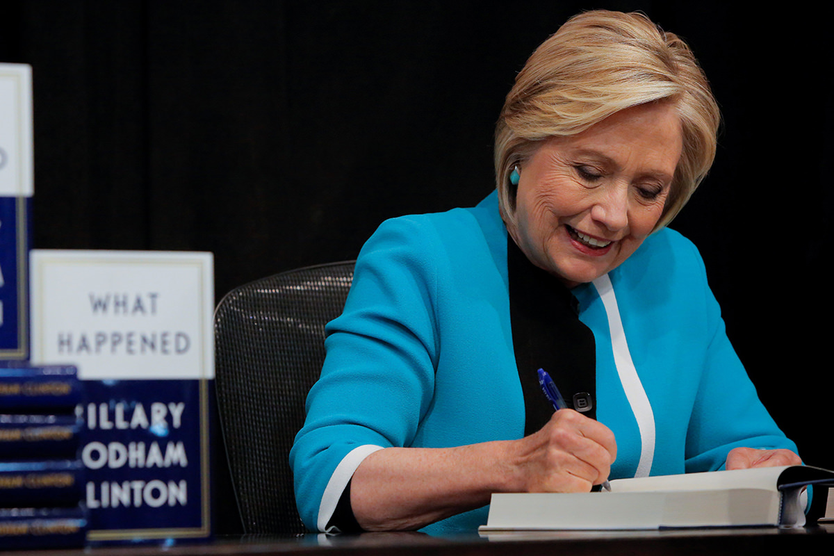 Hillary Clinton and Her Book What Went Wrong