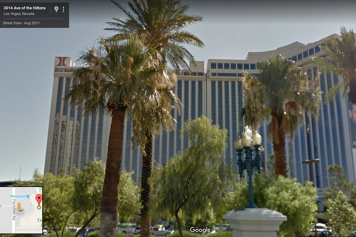 The Hilton Las Vegas in Google Maps StreetView!