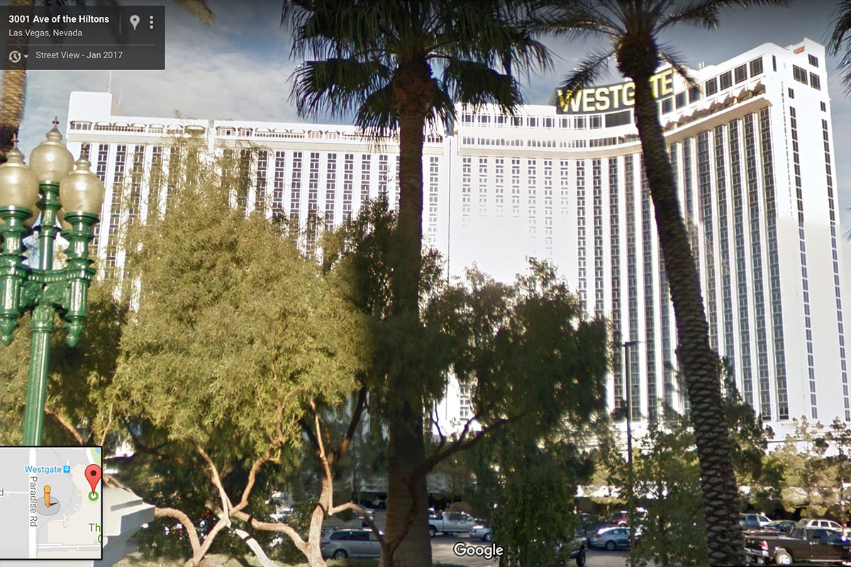The Westgate Las Vegas in Google Maps StreetView!
