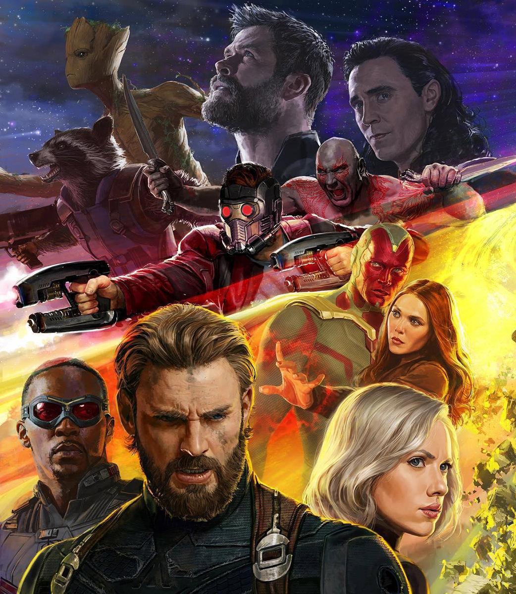 Avengers Infinity War Poster Panel
