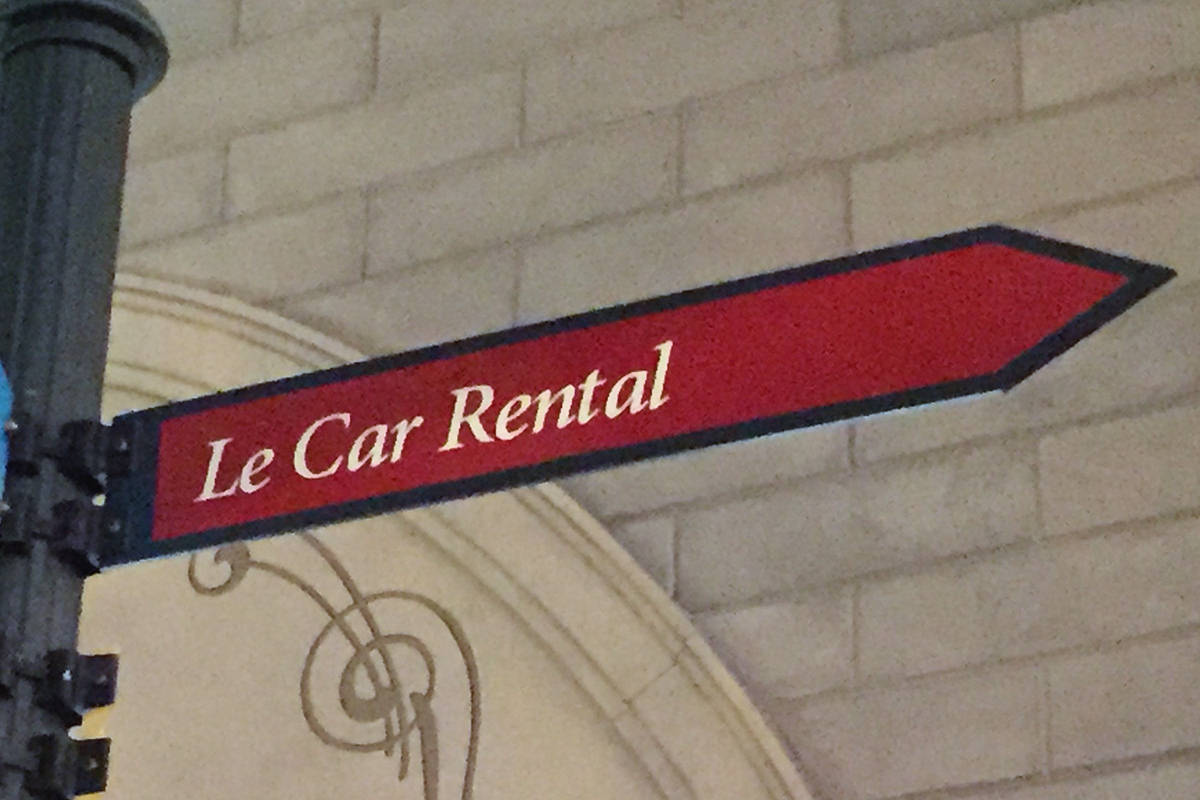 Le Car Rental Sign at Paris, Vegas