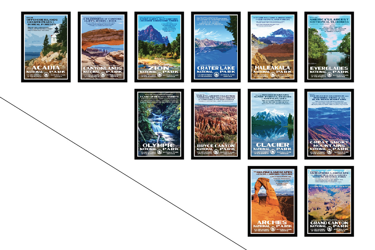 Dave's National Parks Poster Plan