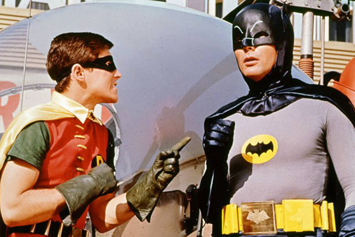 Adam West and Burt Ward as Batman and Robin!