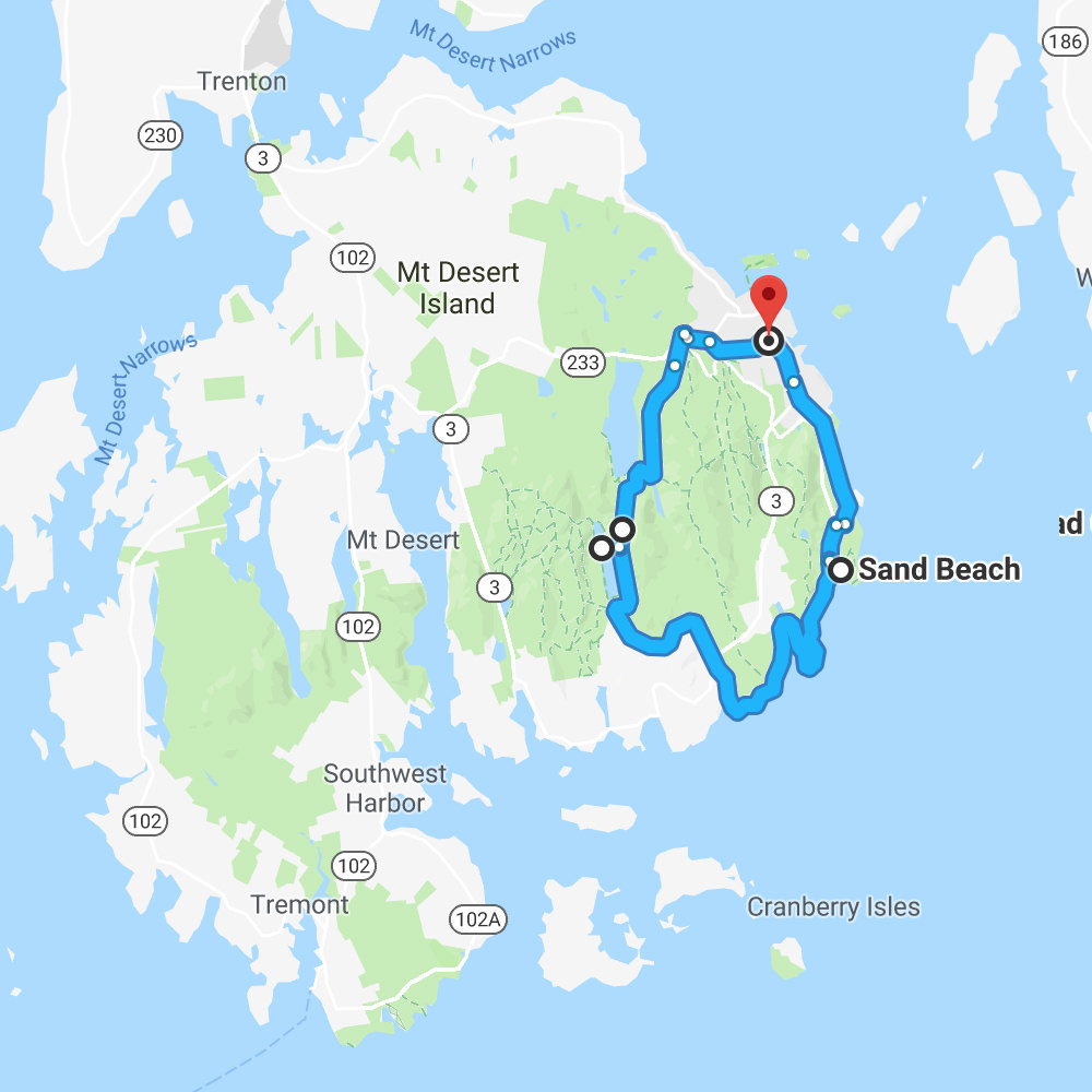 Acadia Friday map
