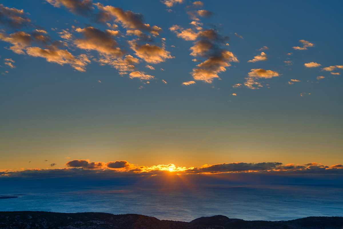 Sunrise from Cadillac Mountain in Acadia