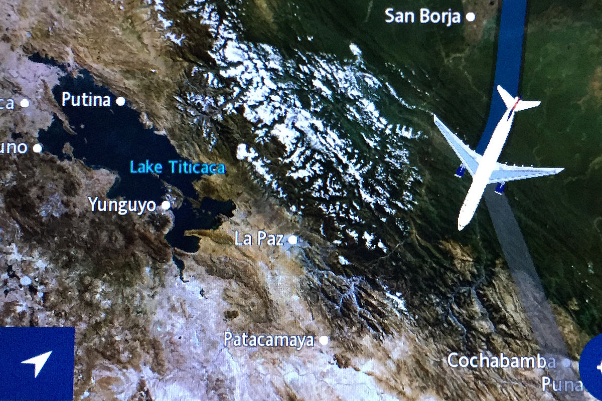 Flight Map... Lake Titicaca