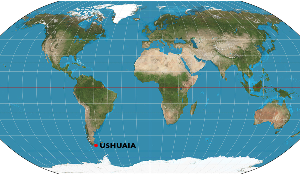 World Map Ushuaia
