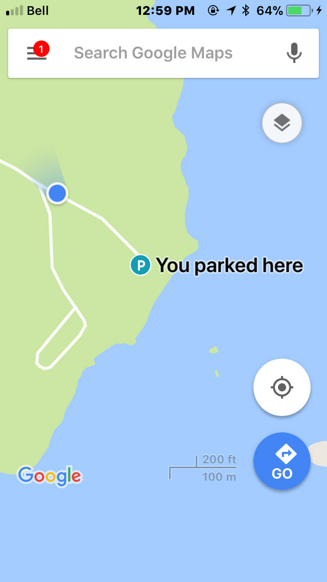 Google Maps Parking Spot