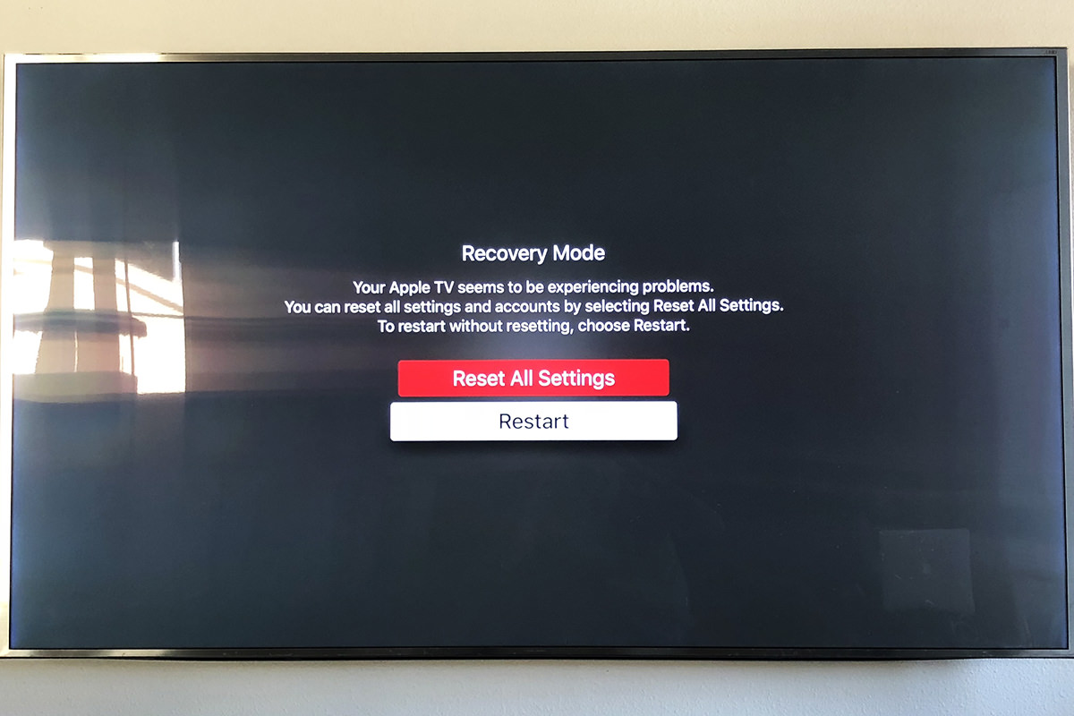 AppleTV Goes Reset