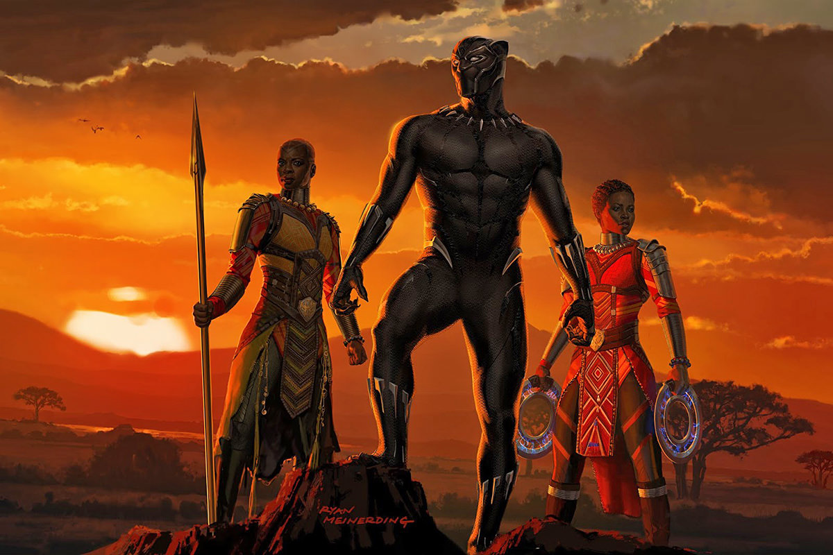 Black Panther Art of the Movie Page