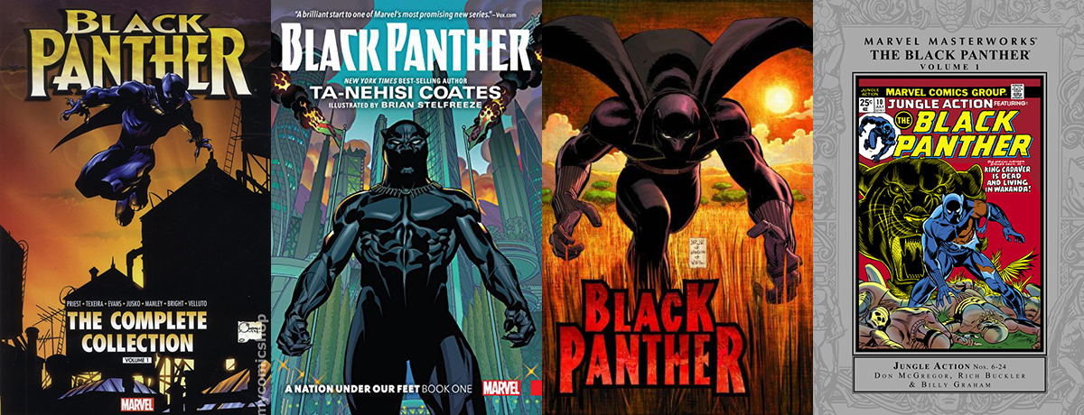 Black Panther Comic Book Covers