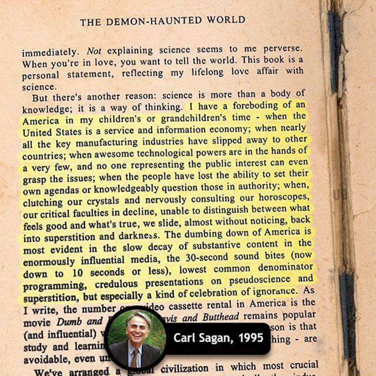 Carl Sagan Quote from The Demon-Haunted World