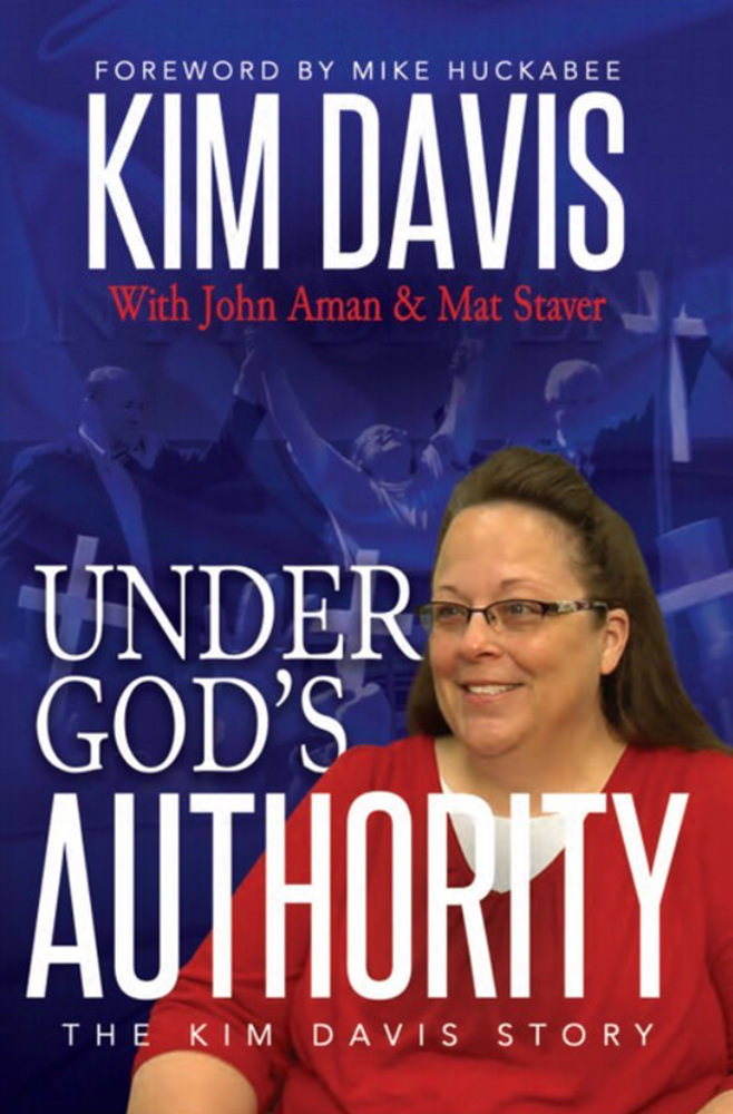 Stupid hypocritical asshole Kim Davis has a book!