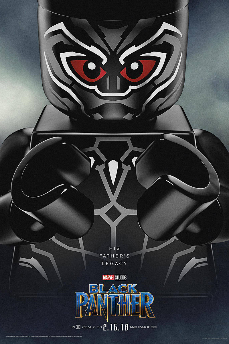 LEGO Black Panther Poster