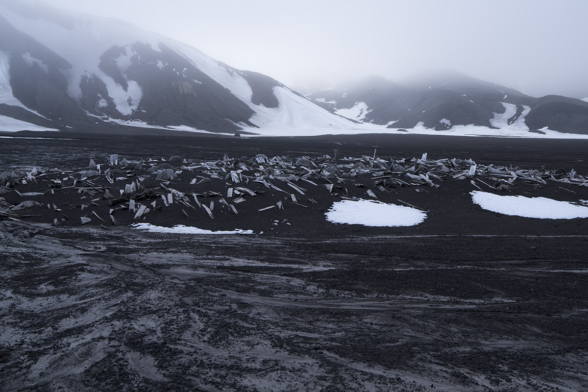 Whaler's Bay on Deception Island Antarctica