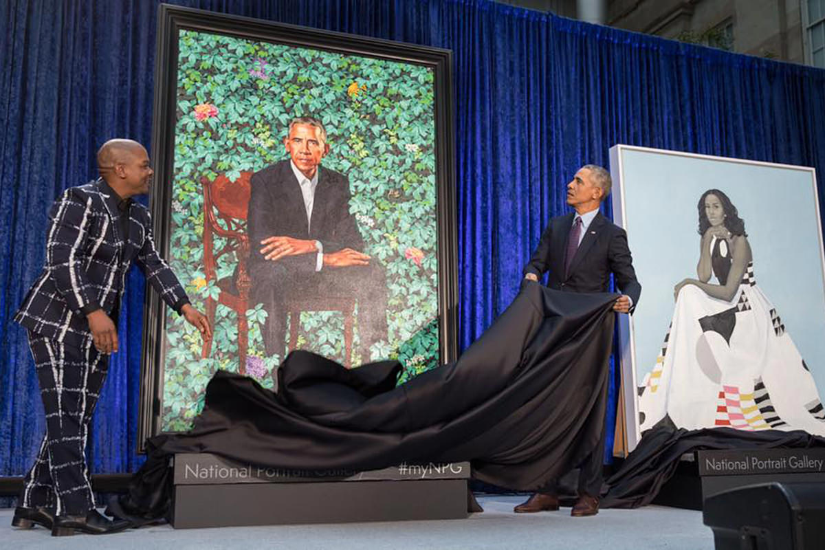 President Obama Portrait by Kehinde Wiley