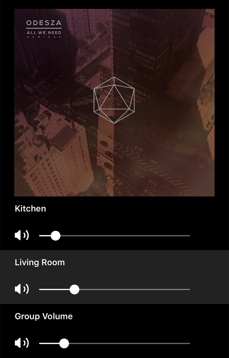 Sonos Volume Controls