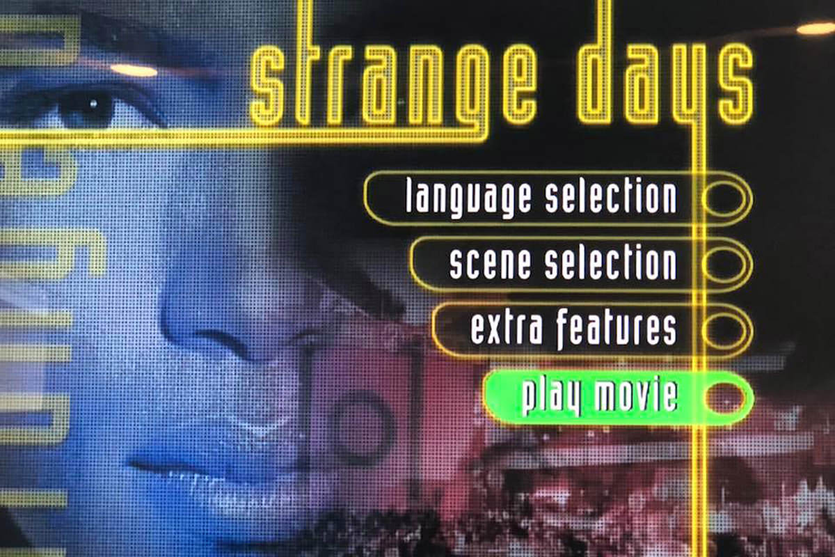 Strange Days DVD Menu Screen