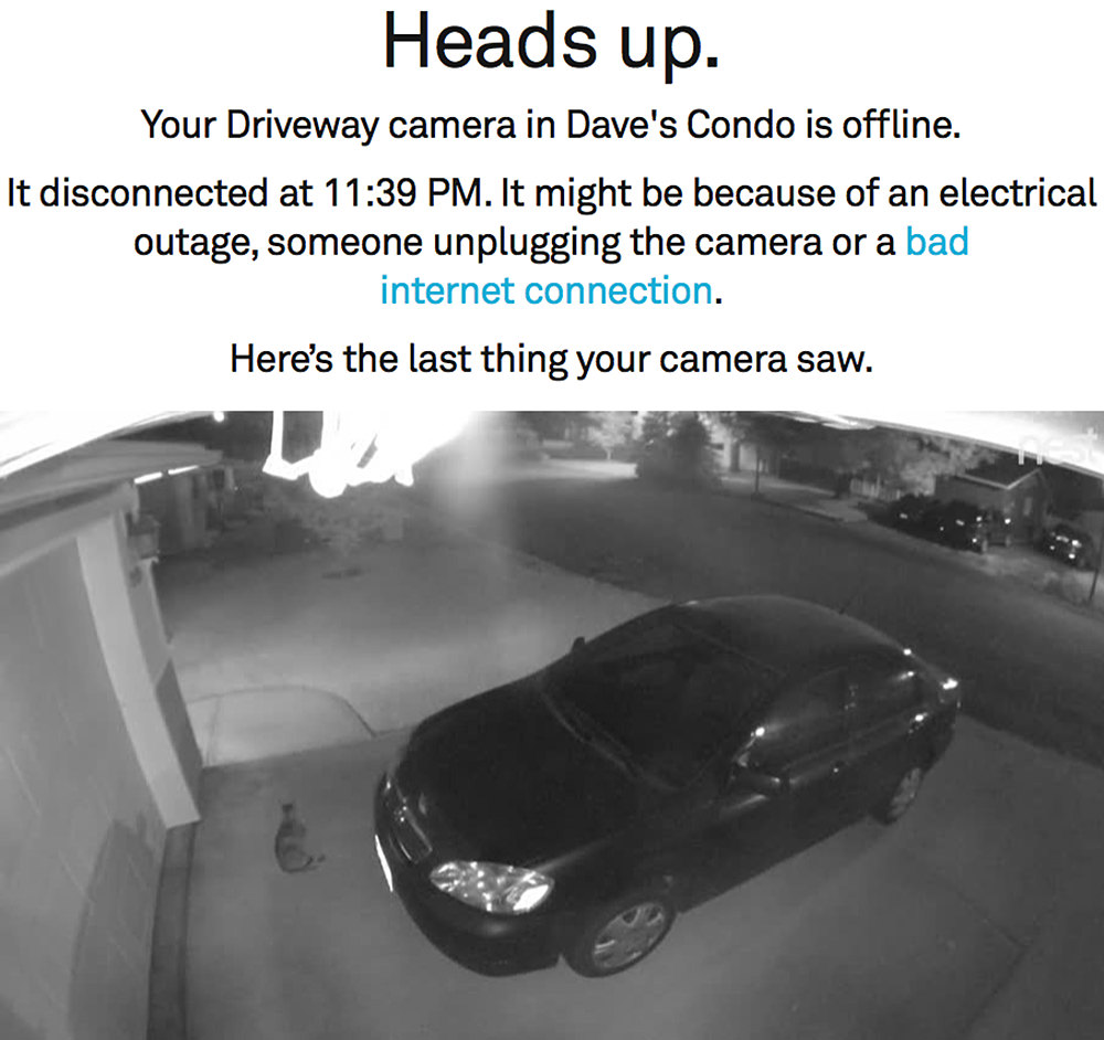 Your Security Camera is Down!