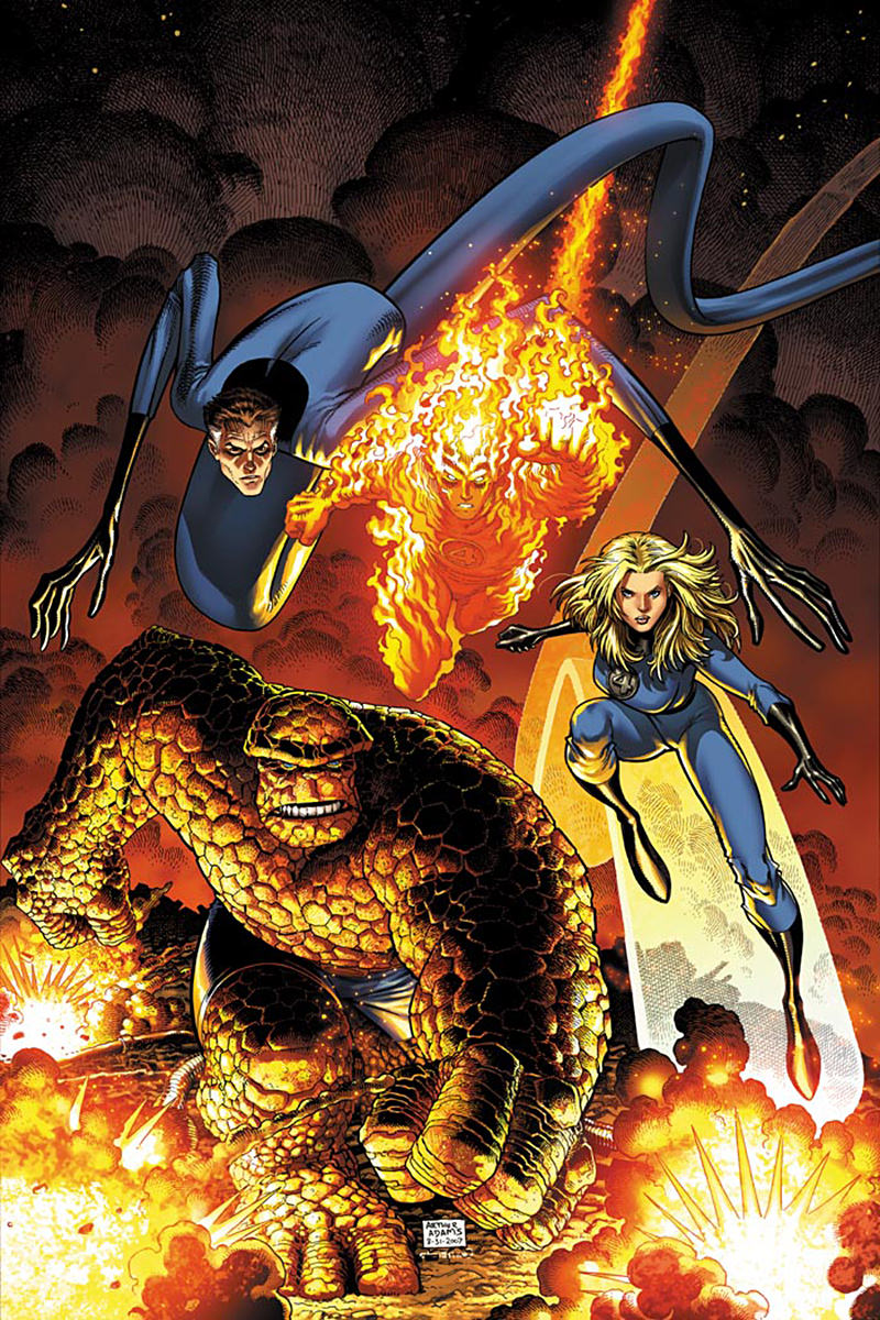 The Fantastic Four by Art Adams