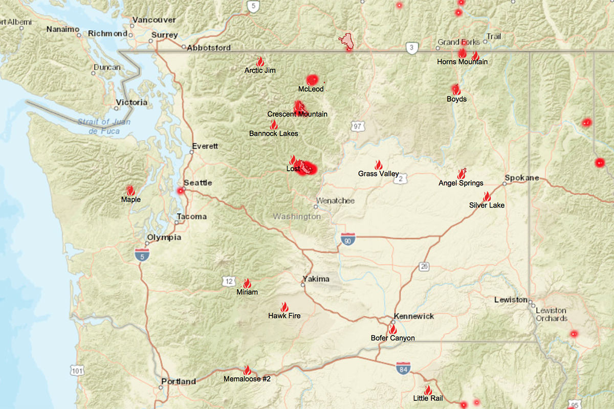 Washington State Fire Map