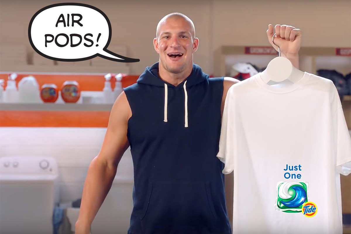 Gronk Tide Pods Says AirPods!