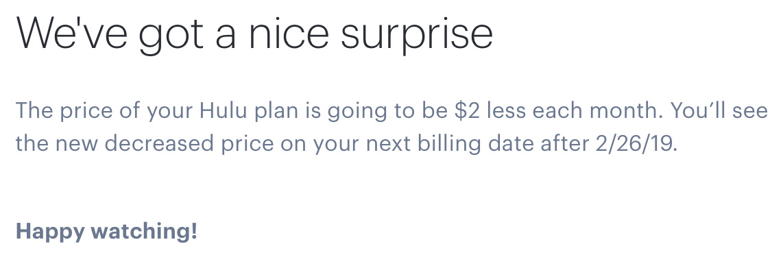 Hulu is Cheaper